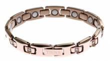 Титановый магнитный браслет для женщины GOLD. Цвет золотой.